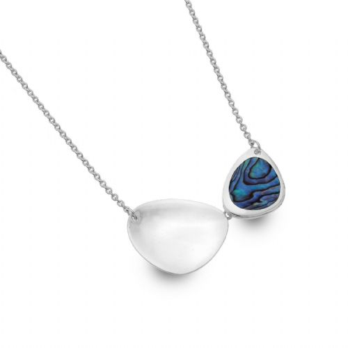 Paua Shell Rockpool Necklace Solid Sterling Silver Hallmark Luxury Box